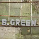 B . GREEN - Skilt - Zink