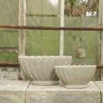 FRIDA - flot oval sæt - Raw Cement