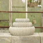 JASMIN - Bølgefad sæt med tre - Raw Cement